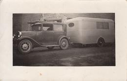 PANISSIERES (42) Carte Photo - F. Notin - La Voiture Automobile Et Sa Caravane - Camping - France