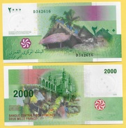 Comoros 2000 Francs P-17 2005 UNC - Comoros