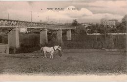 Cpa 69 Rare  PONT D' ALAI  Le Viaduc ( Chemin De Fer De L'Ouest Lyonnais) Animée, Cheval, Dos Vierge, état Du Neuf - Autres Communes