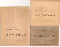 3 Cartes Lettre Différentes CREDIT LYONNAIS CHAMBERY Savoie NEUVES  Et Non Affranchies. - Non Classés