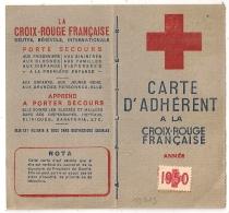 Carte D'Adhérent A La CROIX ROUGE FRANCAISE 1950. TARBES. Vignette 1F. - Commemorative Labels