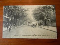 Paris La Rue Des Pyrénées, Prise De La Rue De Bagnolet (XX°) (Collection Gandon) - Sin Clasificación