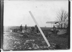 Aviation Allemande Avion Aviatik Soldats Et Baches Pour Recouvrir Les Avions 1 Photo 1914-1918 14-18 Ww1 - War, Military