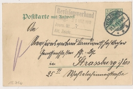PFALZBURG. POSTKARTE. 1911. - Covers & Documents