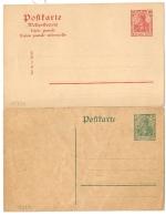 2 POSTKARTE. 5 Et 10. - Covers & Documents