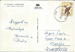 Turkey Istanbul Via Macedonia.nice Stamp Airmail - Birds Of Prey.Eagles. - Turchia