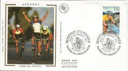 ANDORRA.TOUR DE FRANCE 1993:15 & 16 Ième étape:Perpignan - Andorre-Pal. Andorre - Saint-Lary-Soulan.FDC - Ciclismo