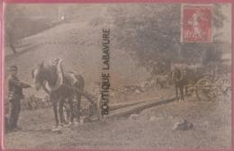 54 - EN LORRAINE---Le Transport Du Bois---2 Attelages Beau Plan - France