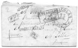 St Niklaas - Lille 23 April 1837 Met PP En PD En APRES LE DEPART En BELGIQUE PAR LILLE - 1830-1849 (Belgique Indépendante)