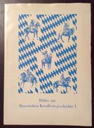ANTON HOFFMANN BILDER  ZUR BAYERISCHEN KAVALLERIEGESCHICHTE I  8 STAMPE CAVALIERI DIVERSI - Manifesti