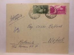 FBC,COLLEZIONE,STORIA POSTALE,LETTERA,ITALIA,REPUBBLICA,ESPRESSO URGENTE,AFFRANC.MISTA BICOLORE,DA FIRENZE A NAPOLI - 1946-.. République