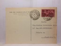 FBC,STORIA POSTALE,CARTOLINA,ITALIA,REPUBBLICA,ESPRESSO,AFFRANC.ISOLATO,DA ING.DR. A TRIBUNALE NAPOLI - 6. 1946-.. Republik
