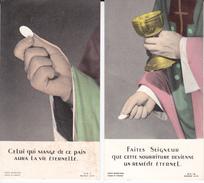 SAINT LOUIS 2 CARTES 6X11 CM..1974 - Communion
