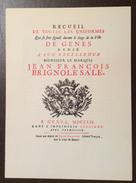 RECUEIL UNIFORMES GENES BRIGNOLE SALE 1752 CATEGORIE CITTADINI PORTORIA COPIA N. 106 Di 500 - Manifesti
