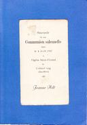 CRONENBOURG...1937..CARTE 6X10CM - Communion