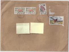 4 Timbres SENEGAL/FEDERATION DU MALI Sur Enveloppe Oblitérée 1961 -dont Aigle Bateleur, Parc National Du Niokolo-koba - Senegal (1960-...)