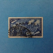 Italia Trieste Zona A - AMG FTT - Francobollo Usato Stamp Used - Risorgimento 5 Lire - 7. Triest
