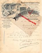16 - ANGOULEME - FACTURE MANUFACTURE PAPIERS PAPETERIE IMPRIMERIE-OSCAR CADIX-20 RUE COULOMB-1907 A M. LAROCHE MOUTHIERS - Stationeries (flat Articles)