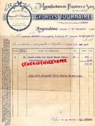 16 -ANGOULEME -FACTURE MANUFACTURE PAPIERS PAPETERIE IMPRIMERIE- GEORGES TOURNAIRE-1 RUE FONTCHAUDIERE SAINT CYBARD-1930 - Stationeries (flat Articles)