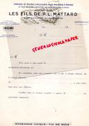 16 -CHATEAUNEUF SUR CHARENTE-FACTURE FABRIQUE FEUTRES MACHINES PAPIERS-PAPETERIE -FILS DE P.L. MATTARD- - Stationeries (flat Articles)