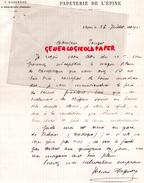 16 -  SAINT SEVERIN-  LETTRE MANUSCRITE SIGNEE  PAPETERIE IMPRIMERIE DE L' EPINE - J. DAGUERRE 1902 - Papeterie