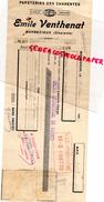 16 -  BARBEZIEUX- TRAITE PAPETERIE IMPRIMERIE DES CHARENTES -EMILE VENTHENAT-1938 - Stationeries (flat Articles)