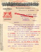 16 - ROUMAZIERES LOUBERT-LETTRE DE LEON CHARRIAUD DIRECTEUR PAPETERIE IMPRIMERIE SUD OUEST -PAPIERS LIONS ROUGES-1929 - Papeterie