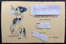 BOLOGNA 1940  / Bersagliere / ANNUNCIO NASCITA - Nascita & Battesimo