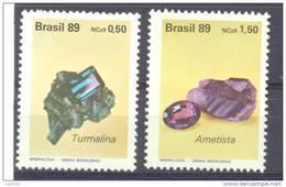 1989. Minerals, 2v, Mint/** - Brésil
