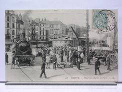 76 - DIEPPE -  DEPART DU RAPIDE POUR PARIS - ANIMEE - TRAIN - LOCOMOTIVE - 1907 - Dieppe