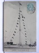 76 - DIEPPE -  POSTE DU TELEGRAPHE SANS FILS - ANIMEE - ATTELAGE - 1907 - Dieppe