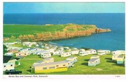 RB 1144 - 1973 Postcard - Sandy Bay & Caravan Park Exmouth - Devon - Angleterre