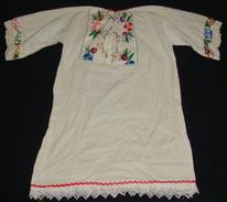 CHILD SHIRT. NEEDLE WORK, MOTIF FLOWERS, SOUTH SERBIA. UNIQUE. LACES. - 1940-1970