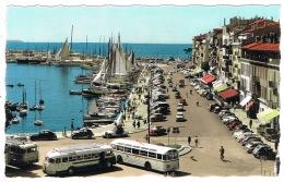 RB 1145 - Real Photo Postcard - Buses Coaches - Le Quai Saint-Pierre Cannes France - Cannes