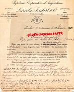 16 -LESCALIER - LA COURONNE- LETTRE LAROCHE JOUBERT-PAPETERIE IMPRIMERIE COOPERATIVE D' ANGOULEME-1901 - Stationeries (flat Articles)
