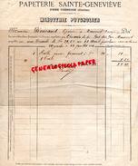 19 - PRES UZERCHE- PAPETERIE IMPRIMERIE SAINTE GENEVIEVE- MINOTERIE PUYGROLIER -A M. PENICAUD EPICIER A MASSERET- 1894 - Stationeries (flat Articles)