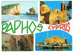 RB 1146 -  1986 Postcard - Paphos Cyprus - Paphos Postmark - Cyprus