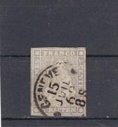 Suisse - Helvetia Assis - Y.T. N° 25 - Fil De Soie Vert