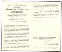 Devotie - Devotion - Edmond Vital Trypsteen - Roeselare 1891 - 1961 - Martha Biesbrouck - Esquela