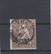 Suisse - Helvetia Assis - Y.T. N° 26 - Fil De Soie Vert