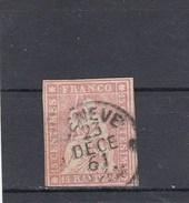 Suisse - Helvetia Assis - Y.T. N° 28 - Fil De Soie Vert