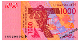 WEST AFRICAN STATES NIGER 1000 FRANCS 2003/13 Pick 615Hj Unc - West-Afrikaanse Staten