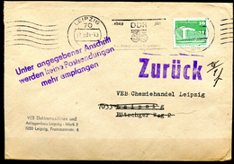 "DDR 1984 Firmen Bedarfsbrief Mit Mi.Nr.2484,Postvermerk U.Propaganda MWST""Leipzig-DDR 35-Für Frieden U.Sozialis.""1 Beleg - DDR"