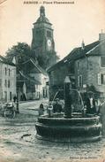 Arbois. Place Pharamand. Fontaine. - Arbois