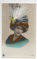 Y615/ Junge Frau  Hut Mit Federn  NPG Foto AK 1911 - Postcards