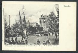 +++ CPA - CHAPELLE - Présentation Des Autorités Sur La Grande Place ...Prince Albert - Cérémonie Fête  // - Chapelle-lez-Herlaimont