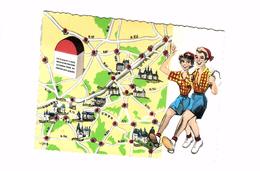 CARTE POSTALE  / Val De Loire, N° 1545     CARTE GEOGRAPHIQUE   BORNE  C2 - Carte Geografiche