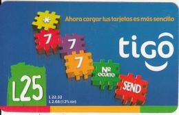 HONDURAS - *777, Tigo Prepaid Card L.25, Exp.date 05/06, Used - Honduras