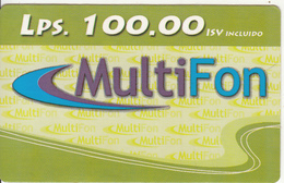 HONDURAS - Multifon Prepaid Card Lps.100, Exp.date 30/06/07, Used - Honduras