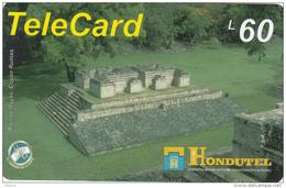 HONDURAS - Ruinas Mayas, Hondutel Prepaid Card L60, Used - Honduras